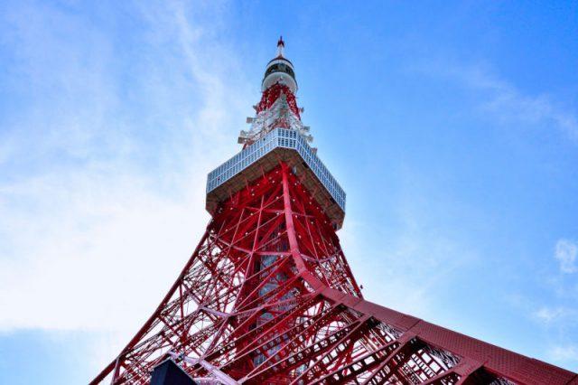 東京タワーを階段でのぼる
